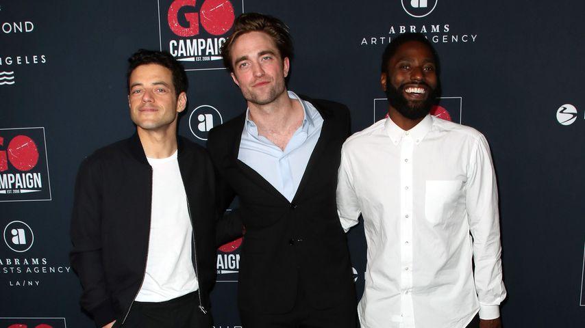 Rami Malek, Robert Pattinson und John David Washington, November 2019