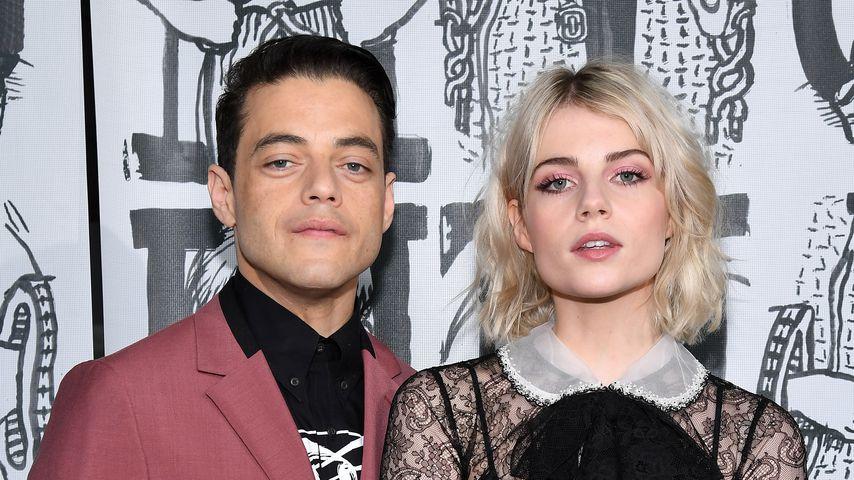 Rami Malek und Lucy Boynton bei der Paris Fashion Week