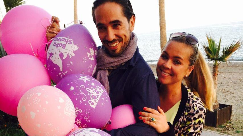 Kurz vor Geburt: Rebecca Kratz feiert pinke Baby-Party