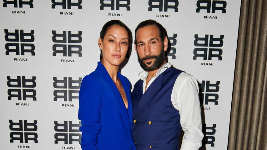 Rebecca Mir und Massimo Sinató auf der Berlin Fashion Week