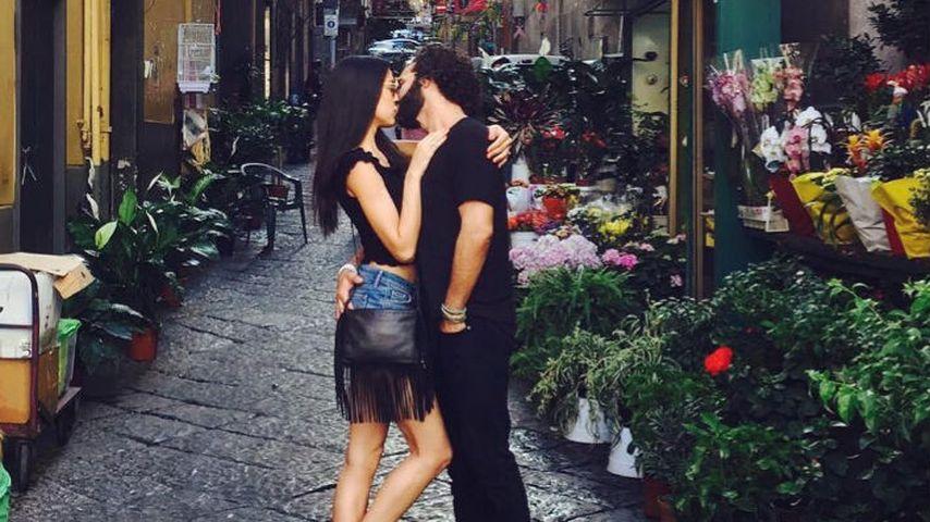 Rebecca Mir und Massimo Sinató im Urlaub in Norditalien