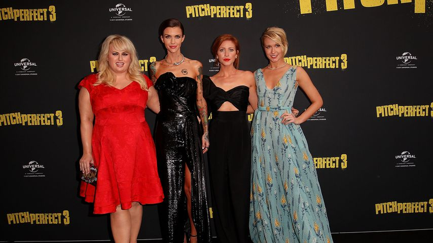 """Rebel Wilson, Ruby Rose, Brittany Snow und Anna Camp bei der """"Pitch Perfect 3""""-Premiere 2017"""