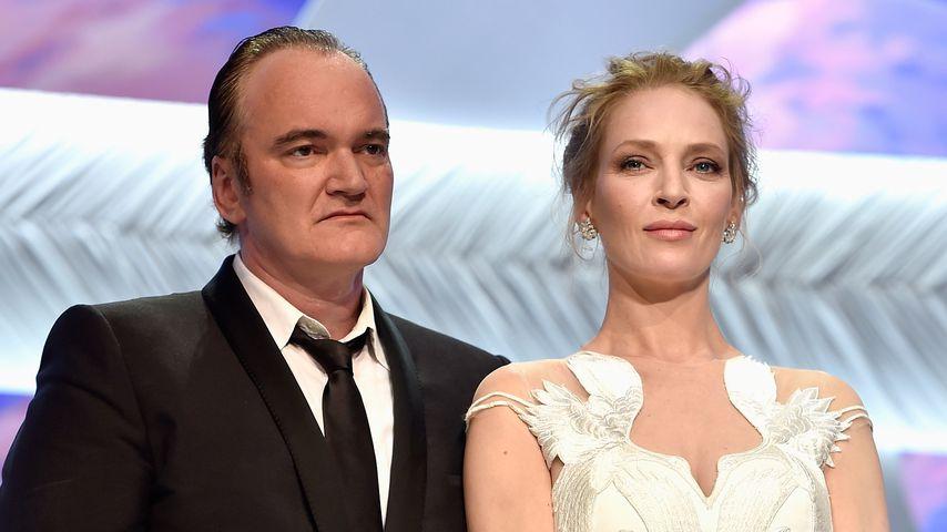 Regisseur Quentin Tarantino und Schauspielerin Uma Thurman