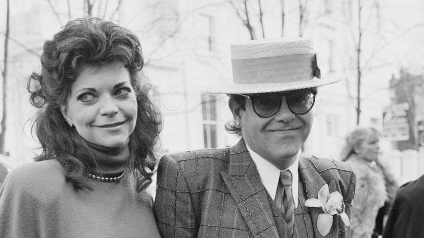 Renate Blauel und Elton John