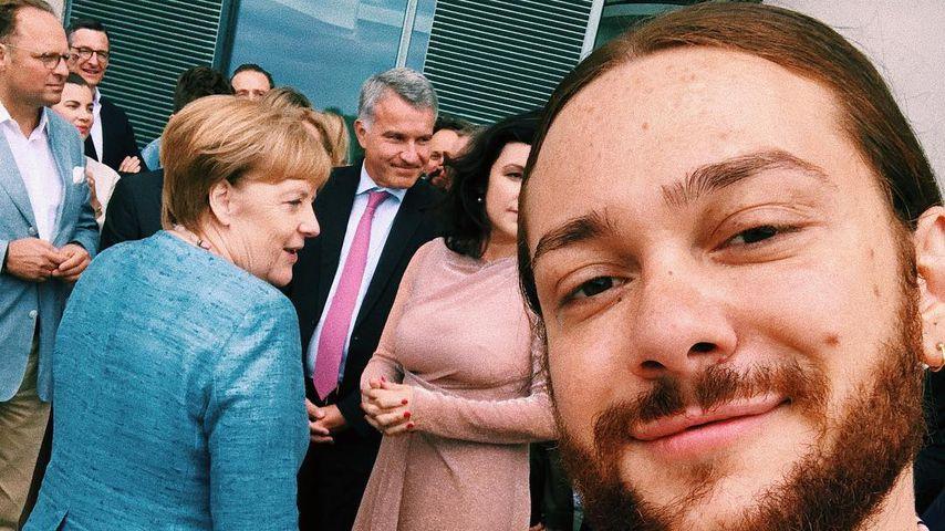 """Merkel-""""Photobomb"""": Riccardo Simonetti traf Bundeskanzlerin"""