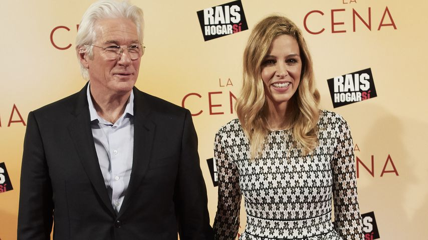 "Richard Gere und Freundin Alejandra Silva auf der ""The Dinner""-Filmpremiere in Madrid"