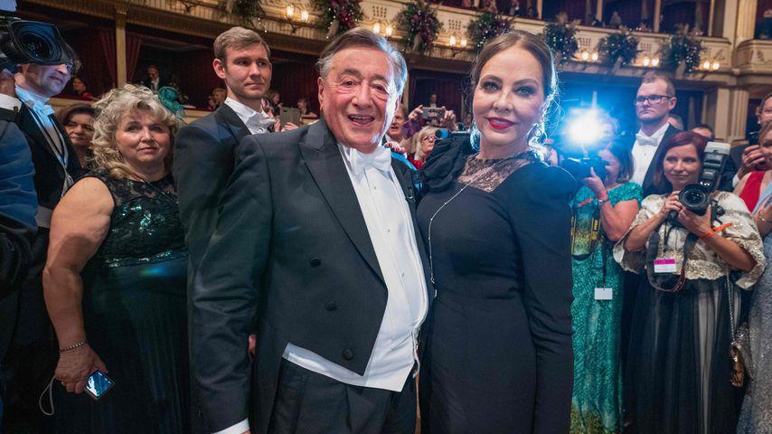 Richard Lugner mit Ornella Muti auf dem Wiener Opernball 2020