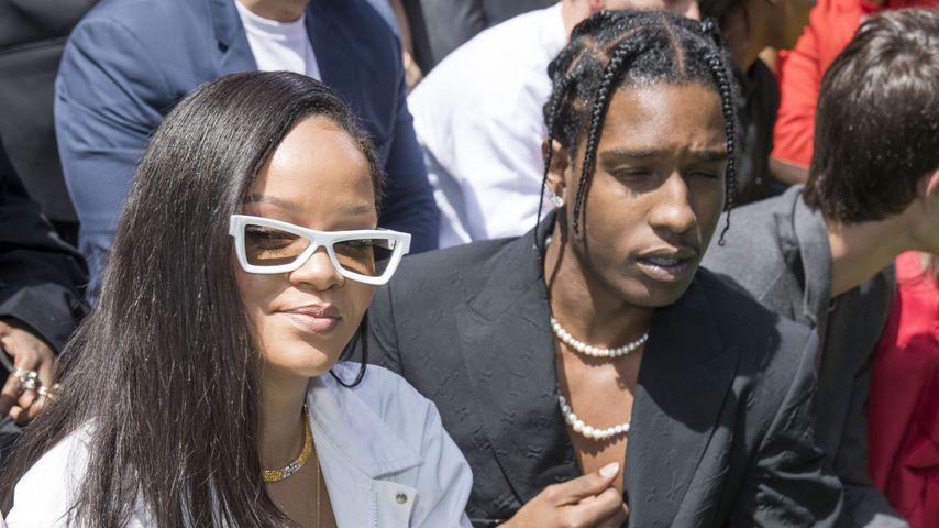 Rihanna und A$AP Rocky bei der Paris Fashion Week 2018