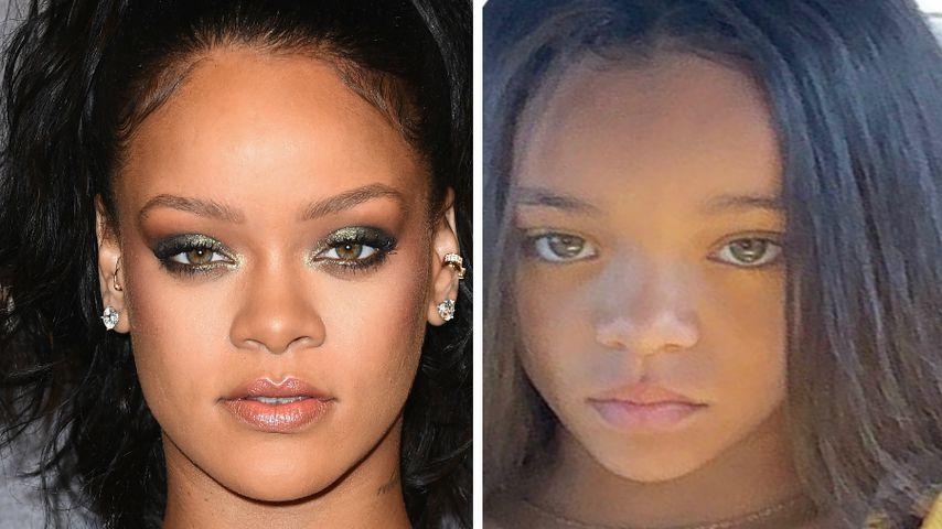 Collage: Rihanna und Doppelgängerin Ala'a