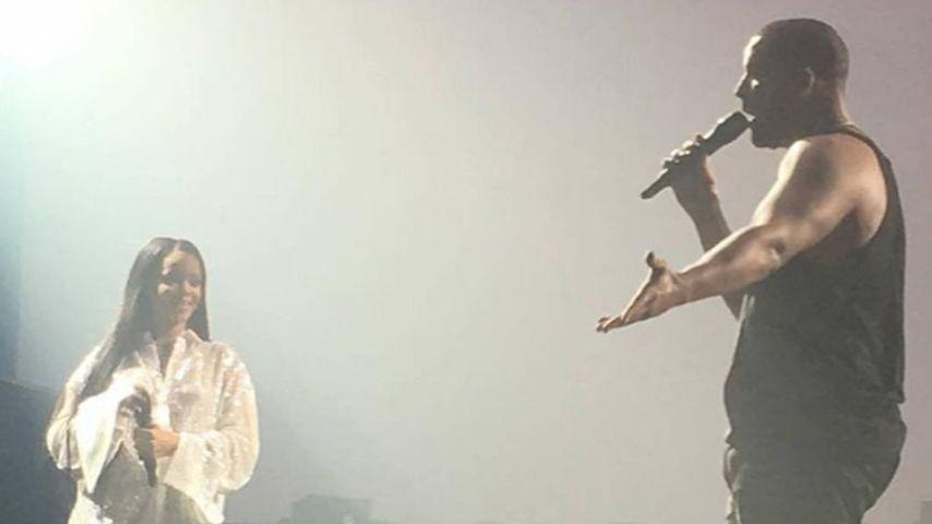 Rihanna und Drake beim Konzert des Rappers in Los Angeles
