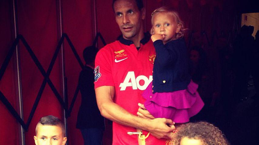 Rio Ferdinand mit seinen drei Kindern