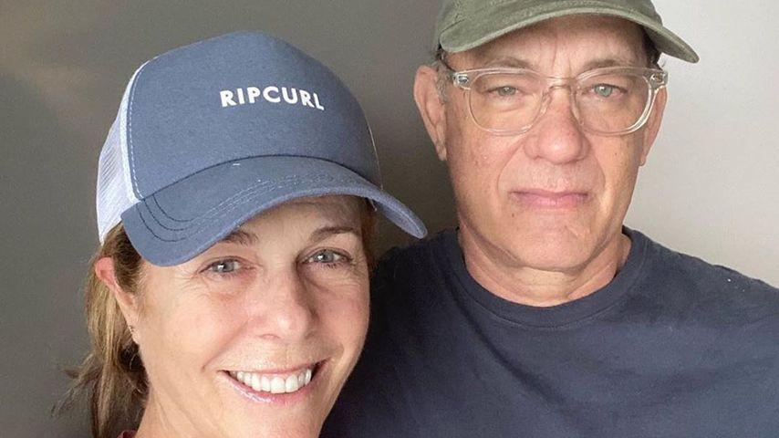 Rita Wilson und Tom Hanks bedanken sich bei Fans für deren Support nach Toms' Coronadiagnose (2020)