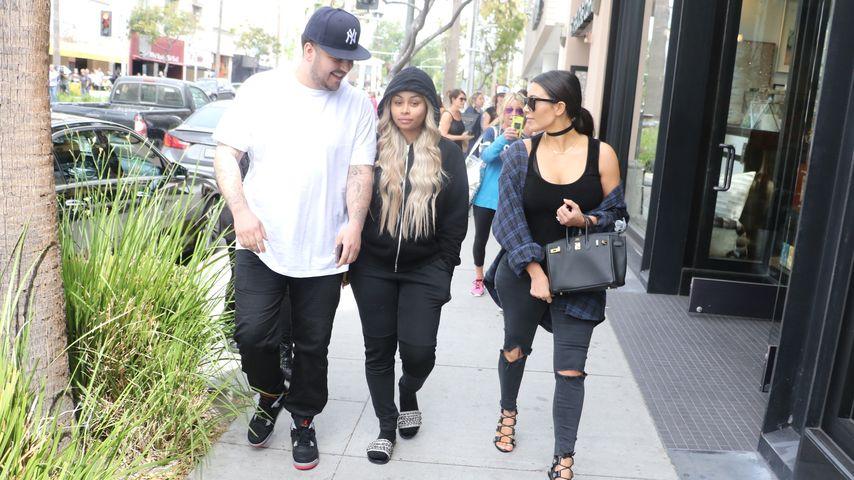 Harmonie pur! Kim Kardashian unterwegs mit Rob & Blac Chyna