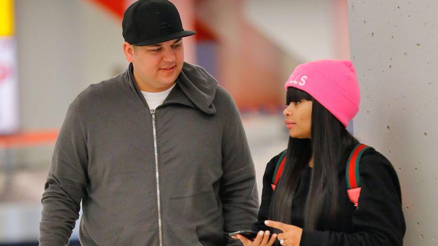 Rob Kardashian und Blac Chyna am JFK-Flughafen in New York