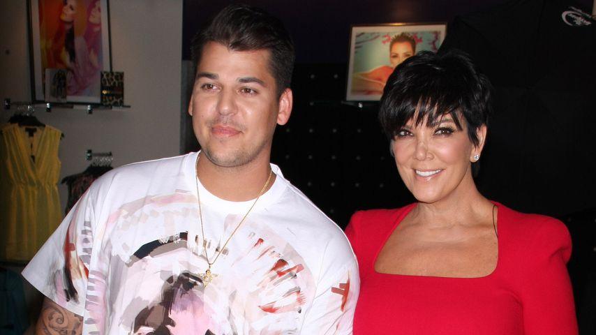 Rob Kardashian und Kris Jenner im März 2013