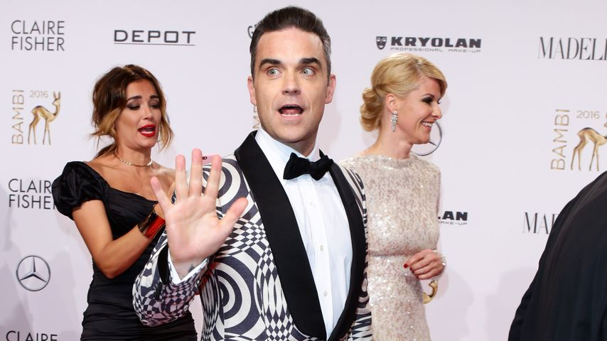 Robbie Williams auf dem Red Carpet beim 68. Bambi