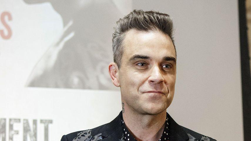 Robbie Williams im November 2016 in London bei einer Werbeveranstaltung für seine Tournee