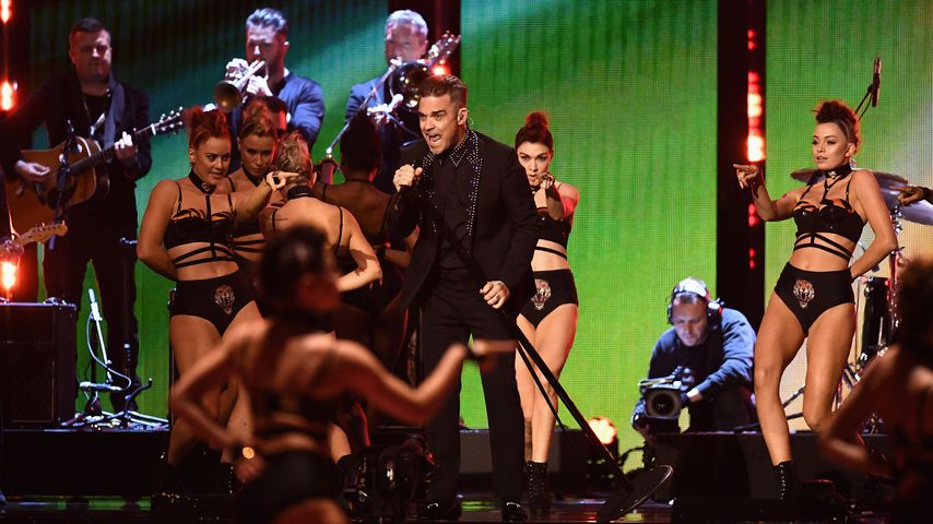 Süß! Töchterchen Teddy ist Robbie Williams' Anker