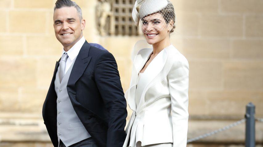 Robbie Williams und Ayda Field bei der Hochzeit von Prinzessin Eugenie und Jack Brooksbank
