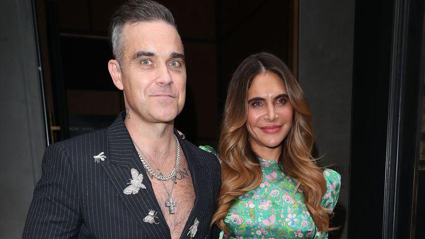 Robbie Williams und Ayda Field im Juli 2019