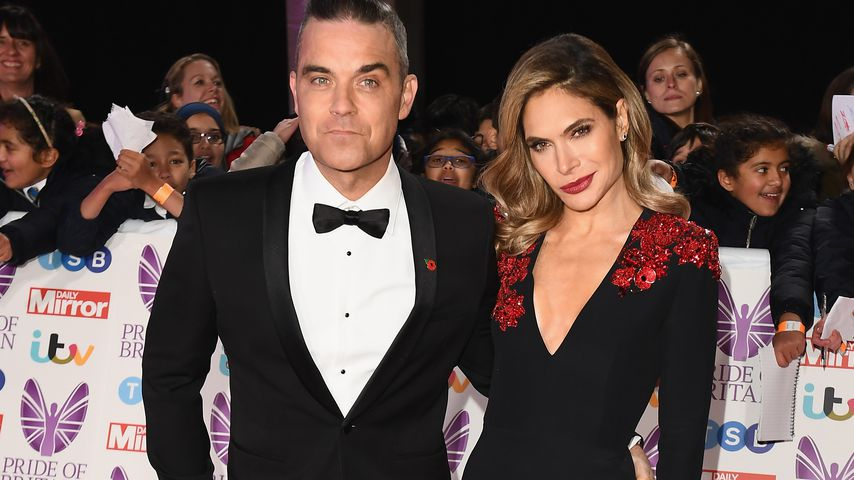 Robbie Williams und Ayda Field bei den Pride of Britain Awards, 2018
