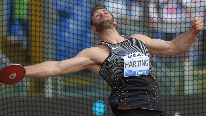 Robert Harting im Olympia Stadion in Rom