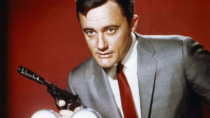 "Robert Vaughn als Napoleon Solo in ""The Man from U.N.C.L.E."" 1964"