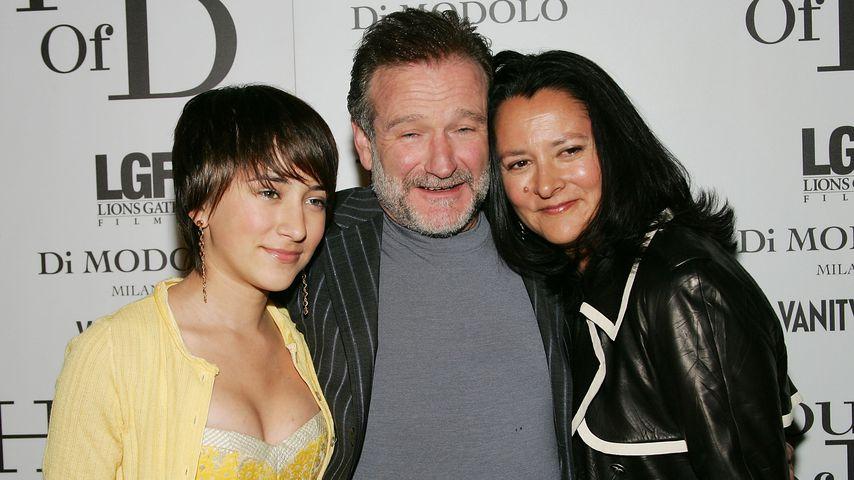 Robin Williams mit seiner Frau Marsha und seiner Tochter Zelda im Jahr 2005