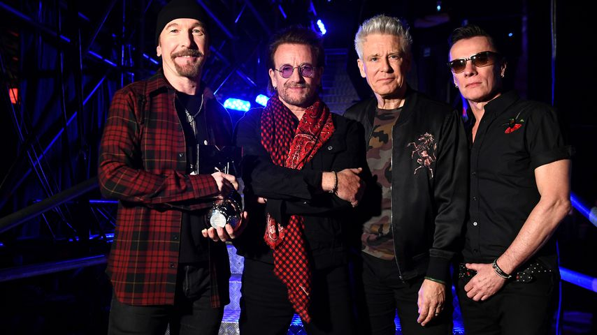 U2 mit dem Global Icon Award in London 2017
