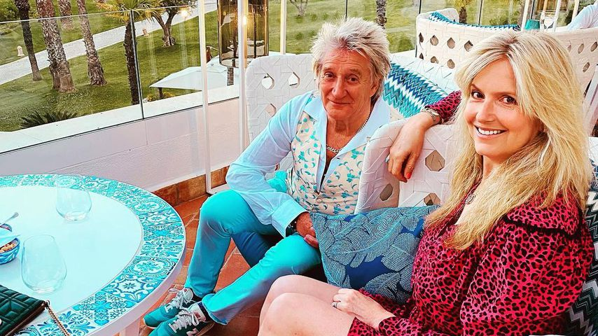 Penny Lancaster und Rod Stewart, Mai 2021