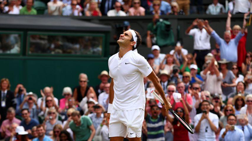 Roger Federer nach seinem 8. Wimbledon-Sieg