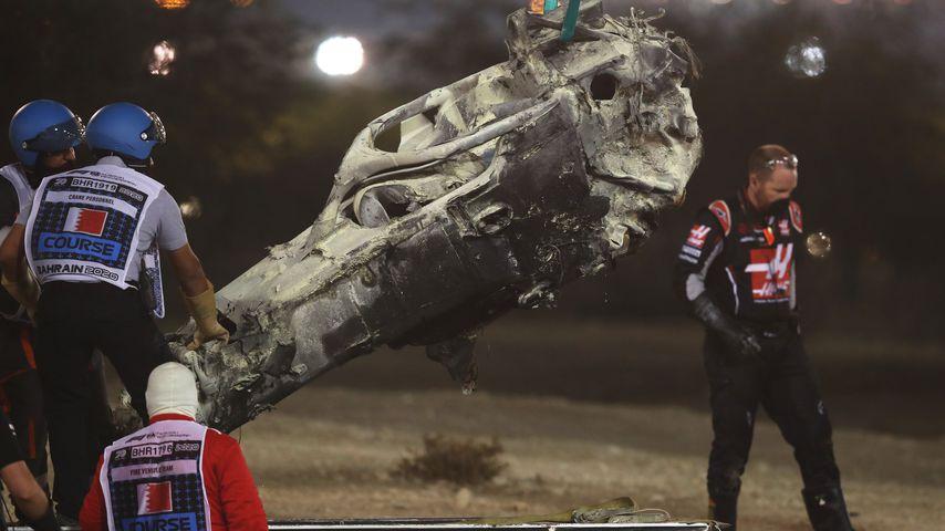 Romain Grosjeans Unfallwagen