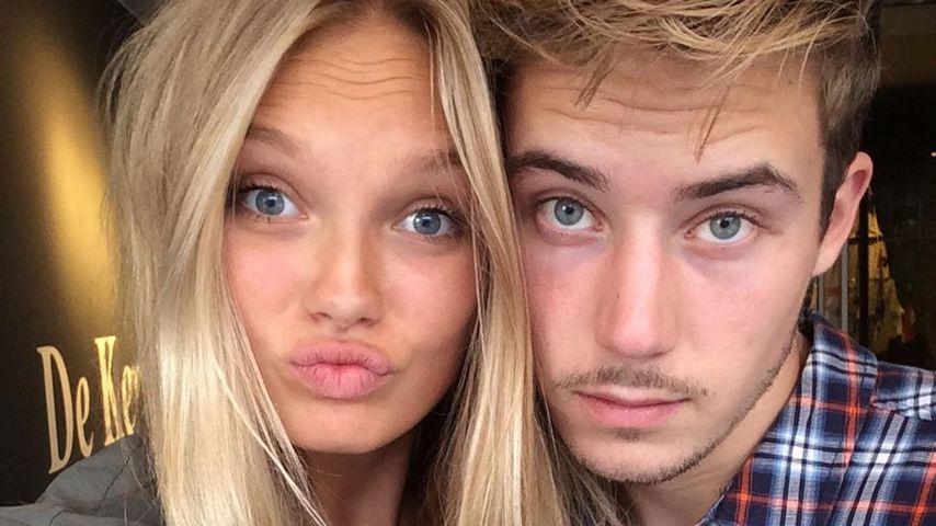 Romee Strijd mit ihrem Partner Laurens van Leeuwen