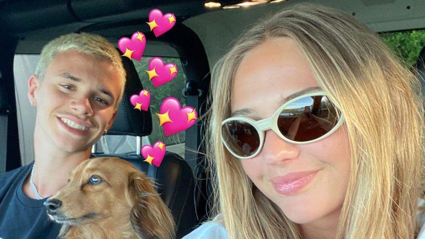 Romeo Beckham und seine Freundin Mia Regan im Juni 2021