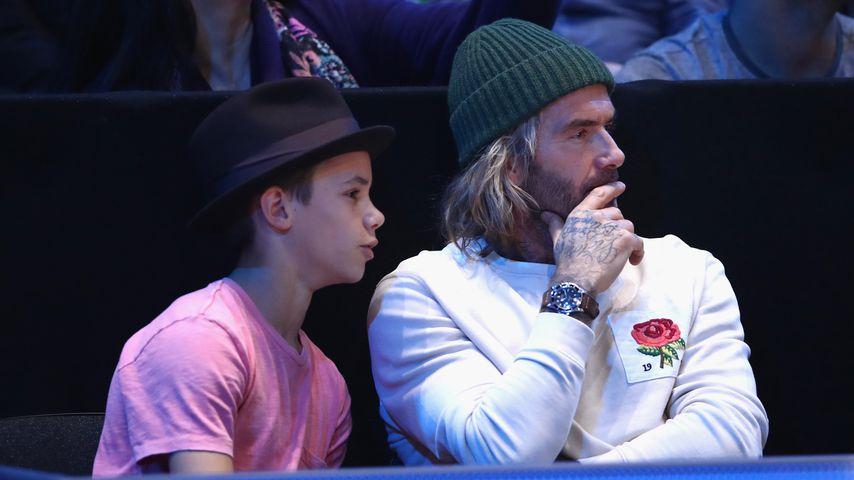 """Romeo und David Beckham beim """"ATP World Tour""""-Finale in London"""