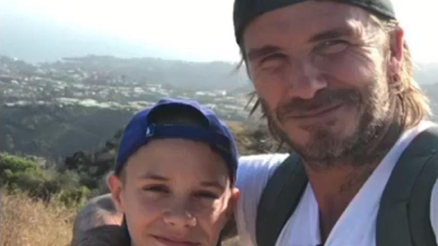 David Beckham und sein Sohn Romeo