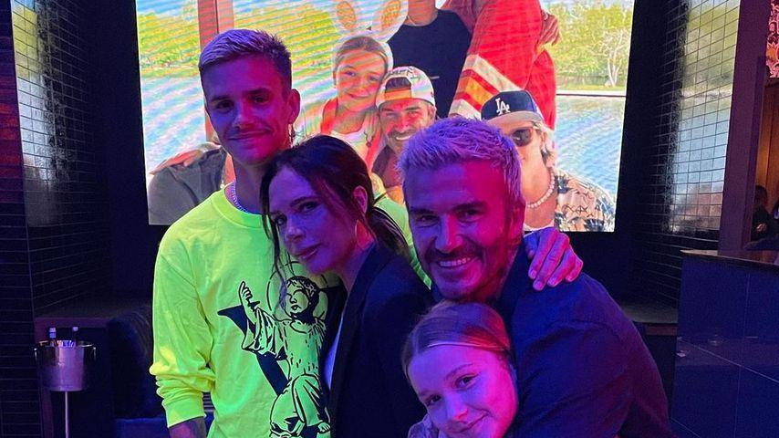 Romeo, Victoria, Harper Seven und David Beckham im September 2021