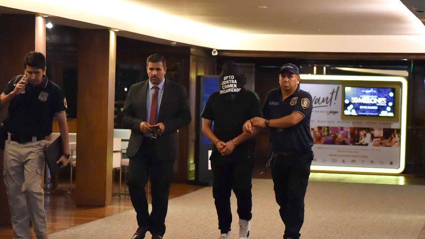 Ronaldinho bei seiner Verhaftung im März 2020