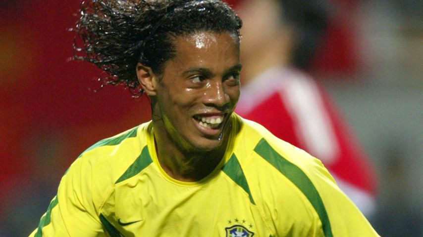 Ronaldinho bei der WM in Korea im Juni 2002