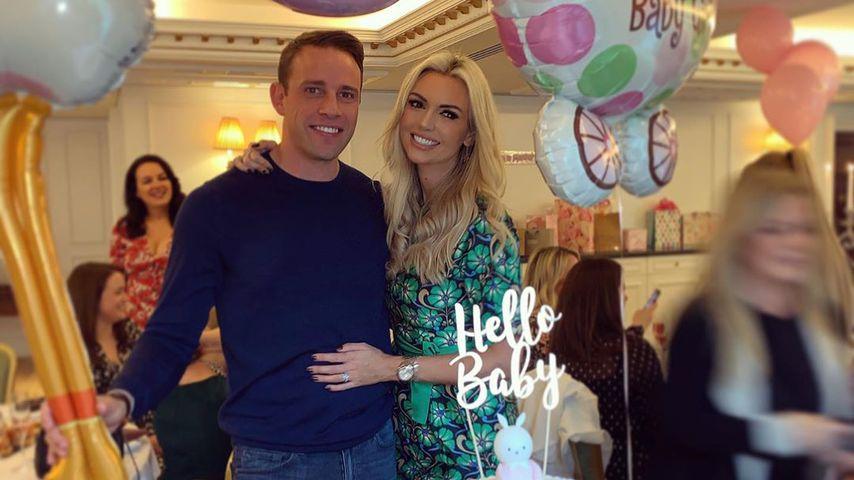 Ehemann Wesley Quirke und Rosanna Davison bei ihrer Baby-Party im Oktober 2019
