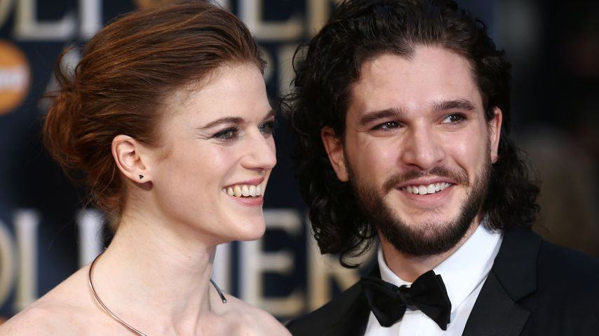 Rose Leslie und Kit Harington bei den Laurence Olivier Awards in London