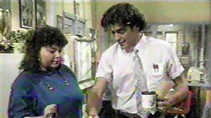 "Roseanne Barr und George Clooney in ""Roseanne"""