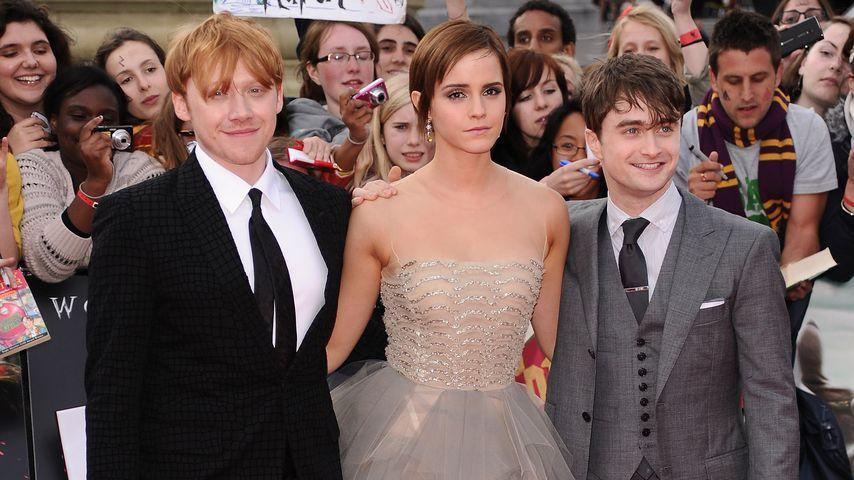 Rupert Grint, Emma Watson und Daniel Radcliffe bei der London-Premiere von HP 7.2 2011