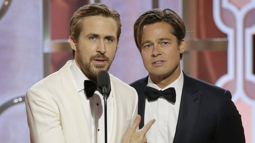Ryan Gosling & Brad Pitt: Heißer Humor bei den Golden Globes