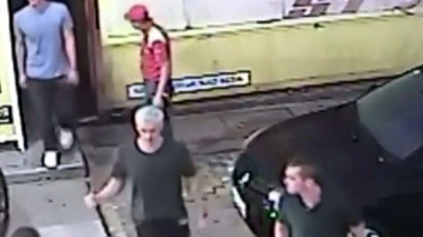 Ryan Lochte, James Feigen, Jack Conger und Gunnar Bentz auf dem Überwachungsvideo in Rio