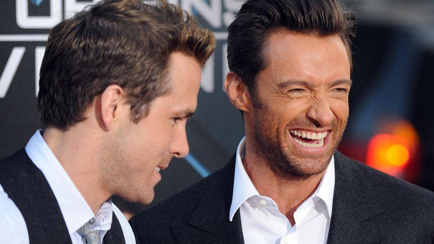 """Ryan Reynolds und Hugh Jackman bei der Premiere von """"X-Men Origins-Wolverine"""" 2009"""