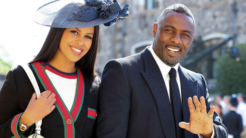 Sabrina Dhowre und Idris Elba auf der Hochzeit von Prinz Harry
