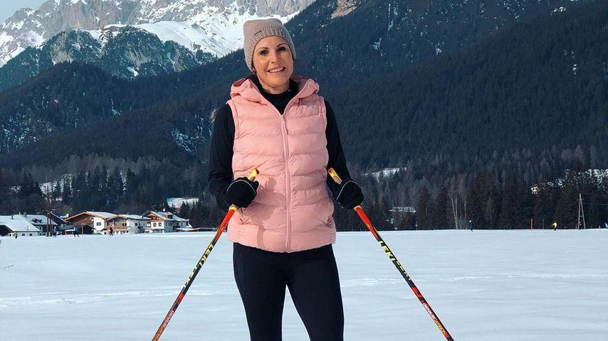 Locker Skilaufen: So fit ist Mocki in ihrer Schwangerschaft!