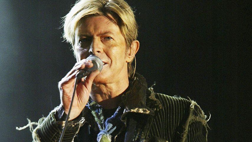 Sänger David Bowie bei einem Konzert im Juni 2014