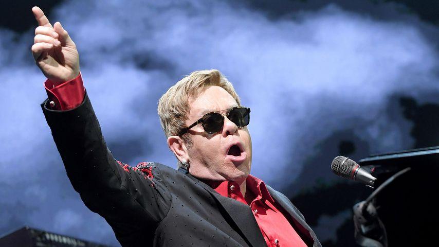 Sänger Elton John bei einem Konzert in Wien 2016